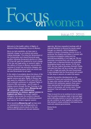 Focus on Women - issue 12 - Rights of Women