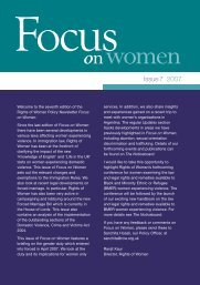 Focus on Women - issue 07 - Rights of Women