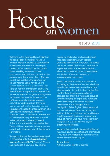 Focus on Women - issue 08 - Rights of Women