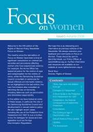 Focus on Women - issue 05 - Rights of Women