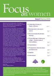 Focus on Women - issue 04 - Rights of Women