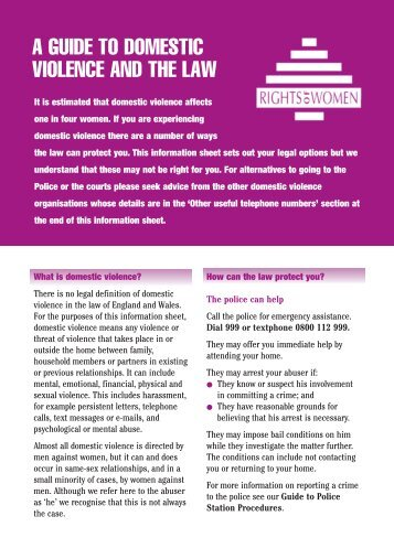 domestic violence -pn2415 - Rights of Women