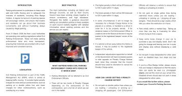 11006 Civil parking enforcement leaflets - Kent County Council