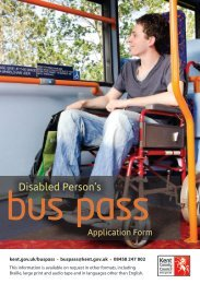 Disabled Person's Bus Pass Application Form - Kent County Council