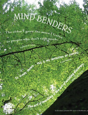 To download a printable PDF version of MindBenders, pl