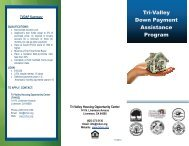 Tri-Valley Down Payment Assistance Program - Town of Danville