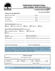 temporary/promotional sign permit application - Town of Danville
