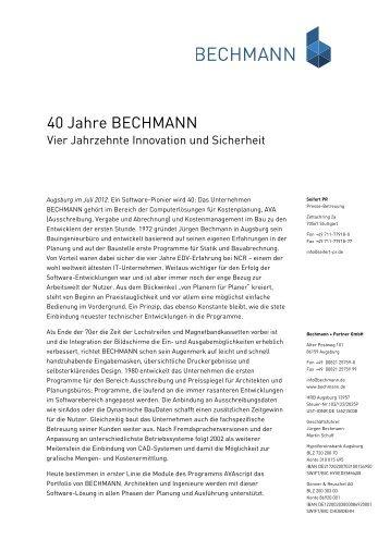40 Jahre BECHMANN - Bechmann und Partner GmbH