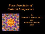 Principles of Cultural Competence Power Point - eXtension