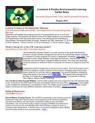 Livestock & Poultry Environmental Learning Center News - eXtension