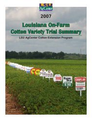 2007 Louisiana On-Farm Variety Trial Summary - eXtension