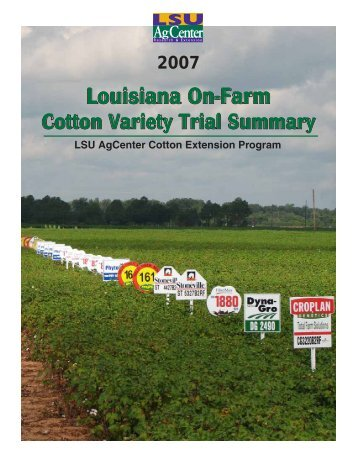 2007 Louisiana On-Farm Variety Trial Summary - eXtension