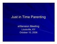 Presentation - eXtension
