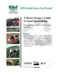 A Horse Owner's Guide to Good Stewardship - eXtension