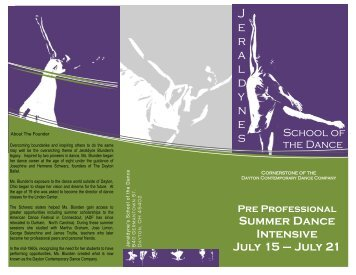Pre Professional Summer Dance Intensive July 15 – July 21