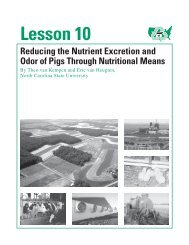 LESSON 10 Reducing Pig Waste and Odor Through - eXtension