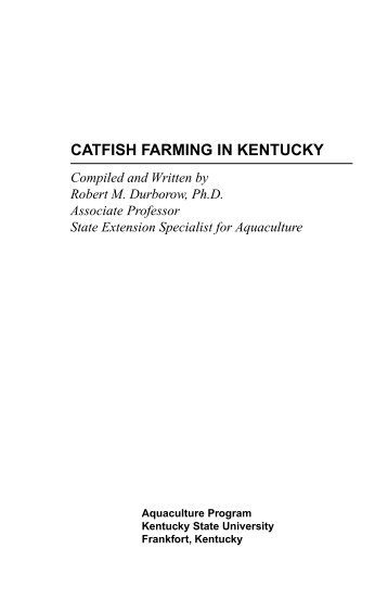 Cat Fish Farming - Aquaculture at Kentucky State University