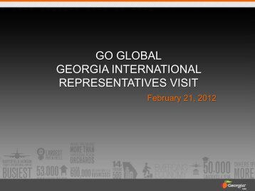 GO GLOBAL GEORGIA INTERNATIONAL REPRESENTATIVES VISIT