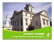 georgia tourism georgia tourism - Georgia Department of Economic ...