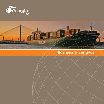Business Incentives - Georgia Department of Economic Development