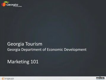 GDEcD FY 12 Tourism Planning - Georgia Department of Economic ...
