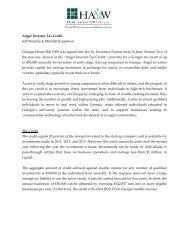 Angel Investor Tax Credit Jeff Weinkle & Mitchell Kopelman Georgia ...