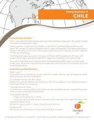 Doing Business in Chile (PDF) - Georgia Department of Economic ...