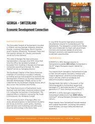 Switzerland - Georgia Department of Economic Development