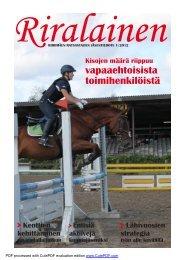 RiRalainen 1/2012 PDF - Riihimäen Ratsastajat ry
