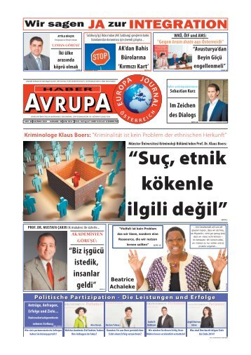 HABER AVRUPA - EUROPA JOURNAL JUNI 2014