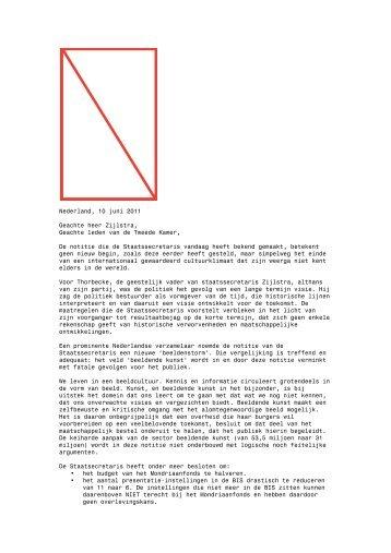 Nederland, 10 juni 2011 Geachte heer Zijlstra, Geachte leden van ...