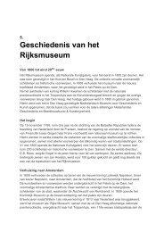 Geschiedenis van het Rijksmuseum