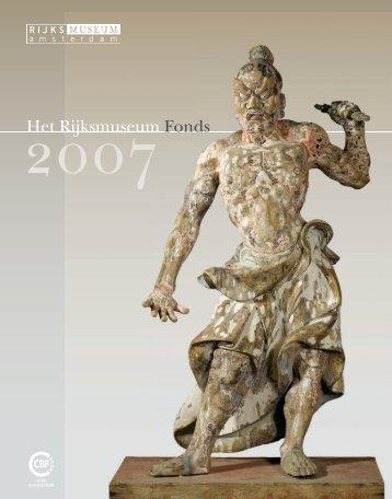 Jaarverslag Rijksmuseum Fonds 2007