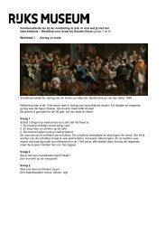 Werkblad voor leraar - Rijksmuseum