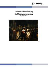 Voorbereidende les (PDF) - Rijksmuseum