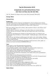 Tage des Ehrenamtes (pdf) - Diözese Linz