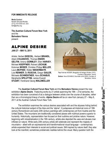 ALPINE DESIRE - Austrian Cultural Forum New York