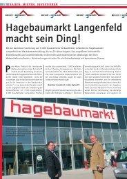 Hagebaumarkt Langenfeld macht sein Ding! - Becker + Bernhard ...