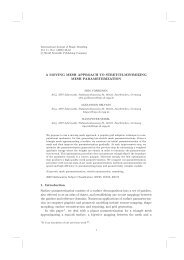 A moving mesh approach to stretch-minimizing mesh parameterization