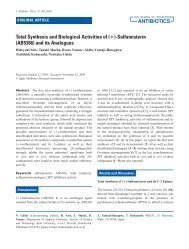Total Synthesis and Biological Activities of (+)-Sulfamisterin ...