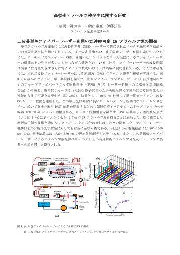 高効率テラヘルツ波発生に関する研究