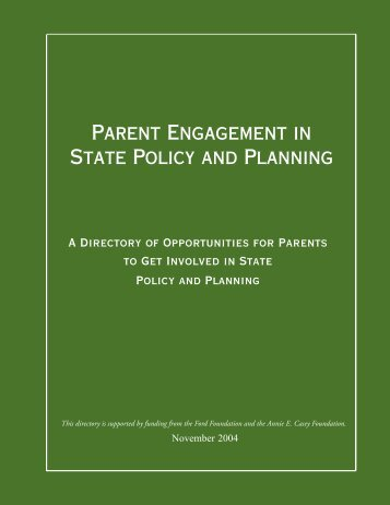 Parent Engagement in State Policy and Planning - Rhode Island ...