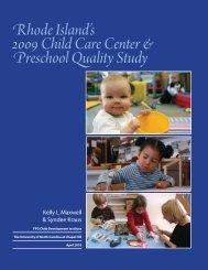 Rhode Island's 2009 Child Care Center & Preschool Quality Study