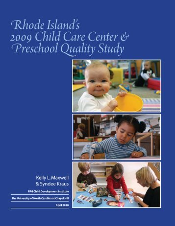 Rhode Island's 2009 Child Care Center & Preschool Quality Study