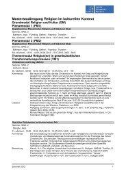 Kommentiertes Vorlesungsverzeichnis M.A. RikK SoSe 2013