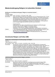 Kommentiertes Vorlesungsverzeichnis M.A. RikK WS 2013/14