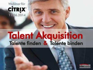 Talent Akquisition - Talente finden & Talente binden