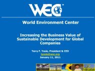 Increasing the Business Value of Sustainable Development