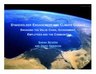 stakeholder engagement and climate change - Retail Industry ...