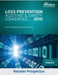LOSS PREVENTION - Retail Industry Leaders Association